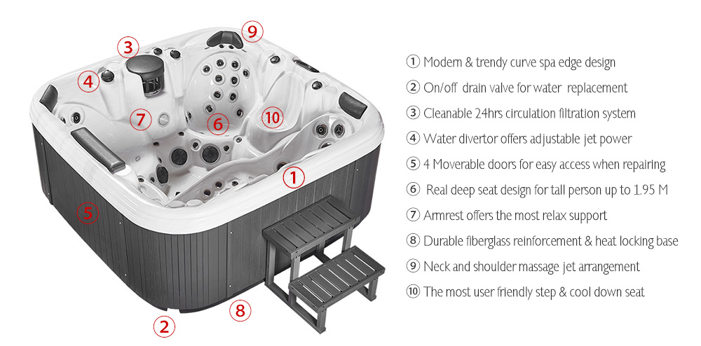 Find the premium hot tub in CHINA,Get our fantastic Spas at unbeatable prices,email us to get more info now!